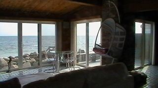 Yarmouth cottage photo - Capture the awesome view while relaxing in new comfy rattan wicker Swing chair