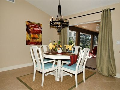 Breakfast nook and access to lanai and pool.