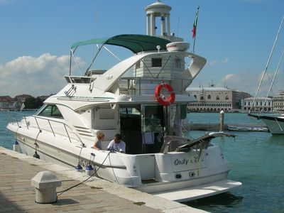 Comfortable boat for romantic cruises in the Venetian lagoon, Croatia