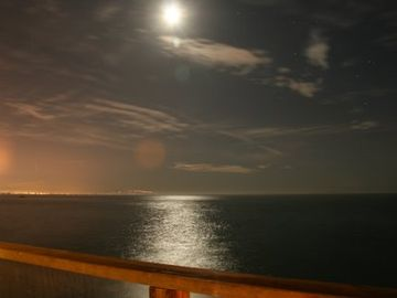 night view from master and oceanfront deck