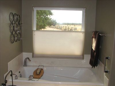 Soaking tub in master bath