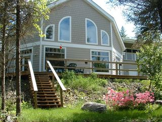 Lake Vermilion house photo - Front of house facing the water. Theres also a screen porch to the left.