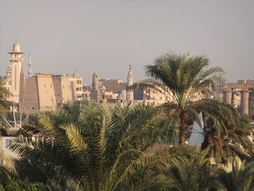 Luxor temple seen from roof terrace