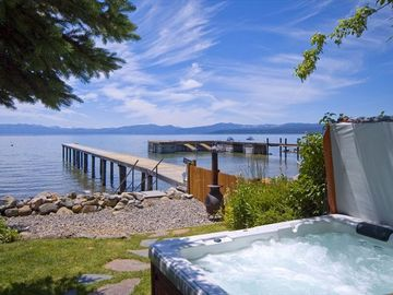 Kings Beach house rental - Hot Tub View from edge of Lake Tahoe