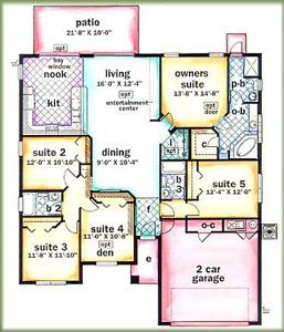 Buena Ventura Lakes house rental - Floor Plan of our house