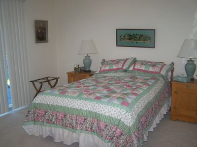 Pinehurst house rental - Bedroom off deck with double bed