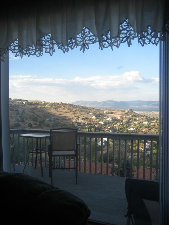 Prescott house rental - Spectacular view from inside the living area!