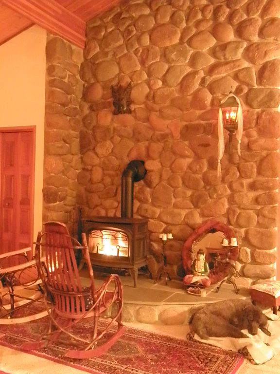 Canadensis cabin rental - Stone hearth