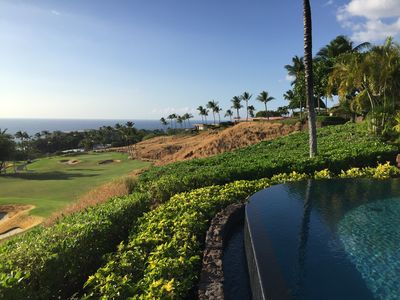 View from the Lanai over the 9th hole of the Mauna Kea Golf Course