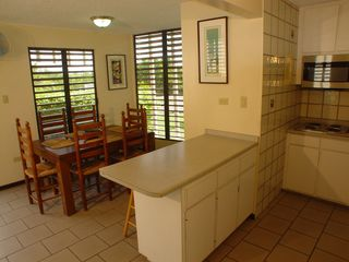 Cabo Rojo villa photo - Dining room and kitchen view from stairs to upper deck.