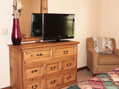 "Every bedroom has a 32"" game ready TV for your use."