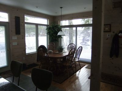 Laconia house rental - lakefront dining
