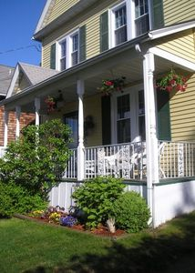 New London house rental - 3-story Victorian overlooks harbor - walk to beach, stores, restaurants, marina