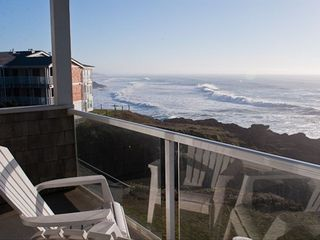 Depoe Bay condo photo - Seacliff Loft - Balcony View