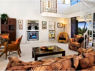 Keauhou condo photo - Entertainment area with large screen TV, VCR, DVD player, stereo
