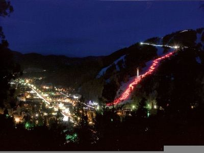 Watch the torchlight parade Saturday Nights & Holidays during Ski Season!