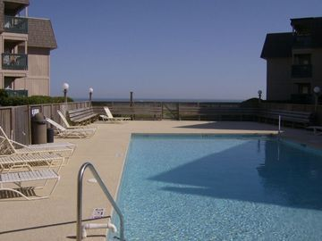 View of private pool area for guest w/ocean in back ground