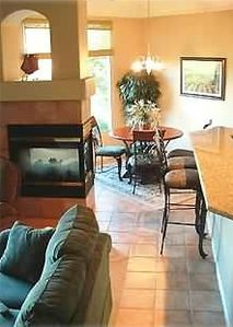 Dining Room with Large Picture Window w/ Golf course and Mt View