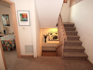 Bethany Beach house photo - lower level stairs from entrance level to living/kitchen level above