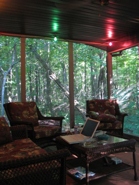 Screened porch interior