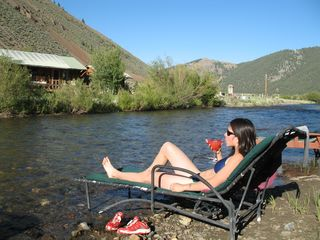 Sun Valley cabin photo - Relaxing by the river