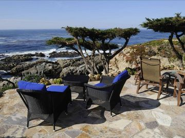 Carmel Highlands estate rental - One of the most spectacular meetings of land and sea you will ever experience.