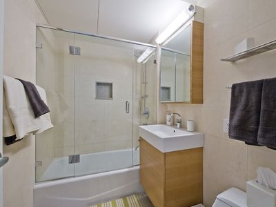 Midtown Manhattan condo rental - Master Bath Upstairs BR