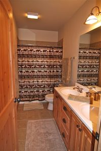 Downstairs bath with double sinks