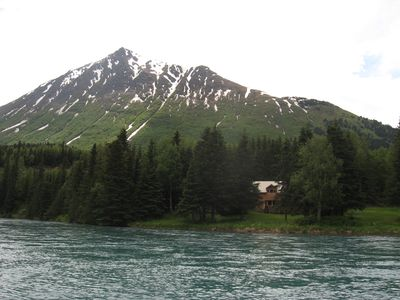 Nestled in 1.6 secluded acres on 'drift only' section of the Kenai.