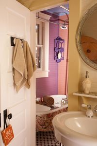 Bathroom with original clawfoot tub