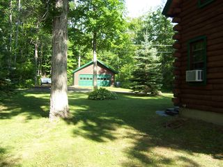 Lake Hortonia cabin photo - Big Game Room Garage, Secluded privacy all 4 sides, Room to Park