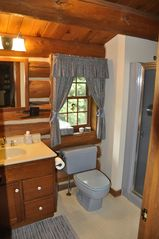 Piseco Lake lodge photo - One of Three Full Baths.
