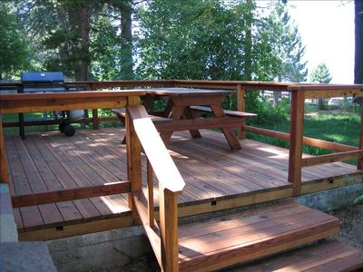 Enjoy life on the deck w/ picnic table, grill, and panoramic views of Lake Tahoe