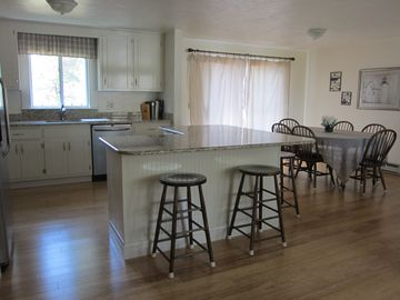 Harwich - Harwichport house rental - Open Kitchen and Dining. Beautiful Granite counters tops.