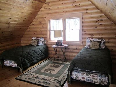 Loft bedroom; sleeps 2 - 4.