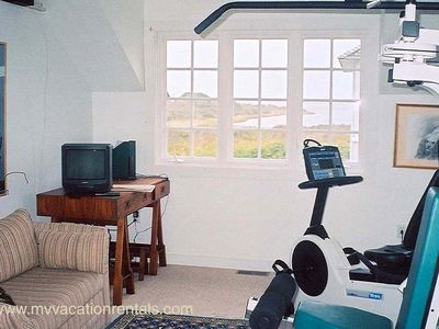Edgartown house rental - Workout area with spectacular views