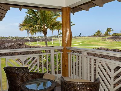 View of the 9th Green of the Mauna Lani South Course from the Master Lanai