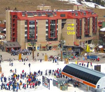 Our unit's location at the base of the American Eagle lift in Center Village.