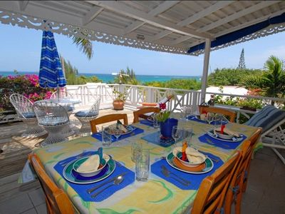 dining area overlooking sea