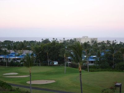 Condo overlooking the Kona Country Club Golf Course and Sheraton Hotel & Spa