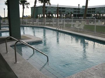 There are two pools and hot tubs located on the complex