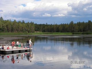 Pinetop condo photo - Woodland Lake Fishing and Hiking Trails - close by with picnic and play area