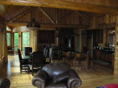 Large cabin kitchen