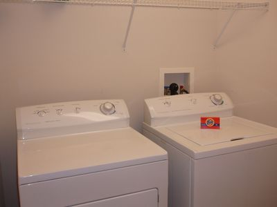 Full-sized Washer and Dryer - Right in the Unit