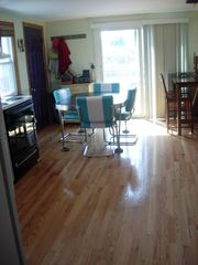 Plum Island cottage photo - Large eat-in-kitchen w/hardwood floor
