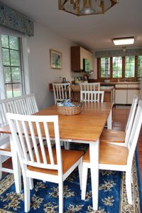 Dining Room with seating for 6, looking into Kitchen with all new appliances.