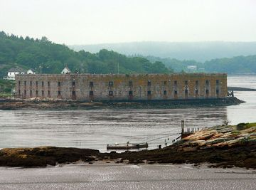 View of Fort Popham on the Kennebec River.