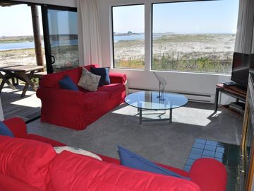 Pajaro Dunes condo rental - Views from the Living Room of both the ocean and river
