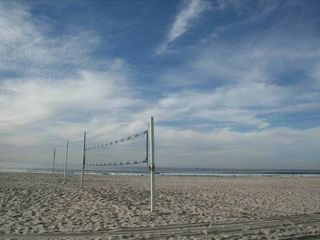 Mission Beach house photo - Volleyball nets at the end of Brighton Court.