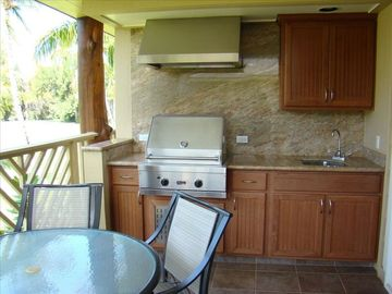 Outdoor cooking area on the lanai